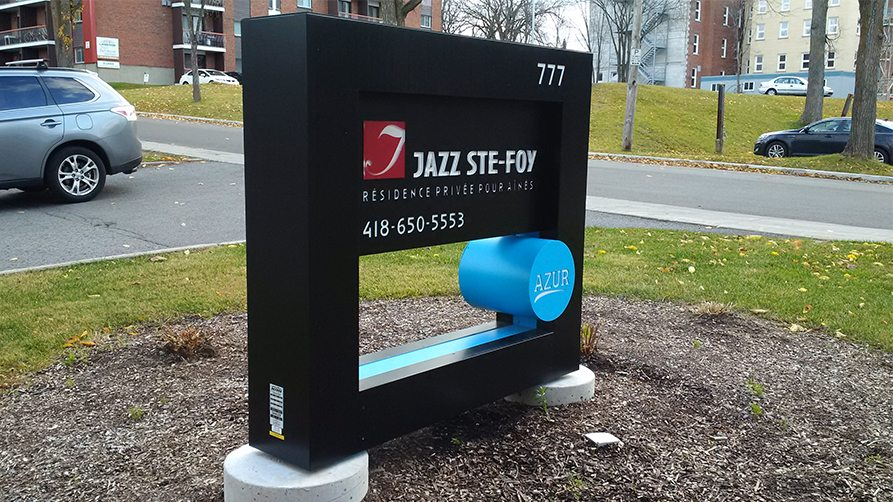 Jazz Ste-Foy Monument Sign